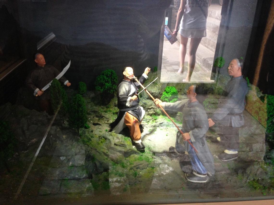 Сценка битвы охраны с разбойниками